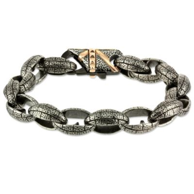 Blackened Stainless Steel Bracelet
