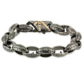 Blackened Stainless Steel Bracelet
