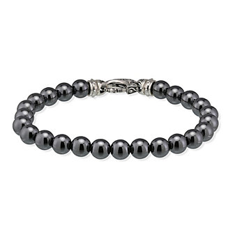 Stephen Webster Sterling Silver Hematite Bead Bracelet