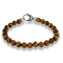 Stephen_Webster_Men's_Sterling_Silver_Tiger's_Eye_Bracelet,_8.5""