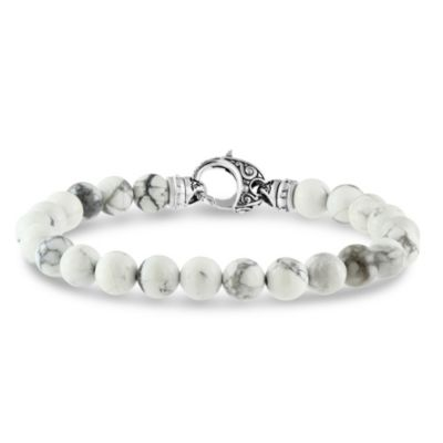 Stephen Webster Men's Sterling Silver Howlite London Calling Bracelet