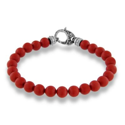 Stephen Webster Red Coral Bead London Calling Bracelet, 8.5""