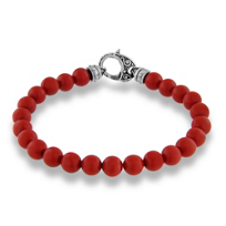 Stephen_Webster_Red_Coral_Bead_London_Calling_Bracelet,_8.5""