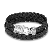 Stephen_Webster_Men's_Sterling_Silver_Braided_Leather_Wrap_Bracelet