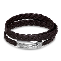 Stephen_Webster_Men's_Sterling_Silver_Brown_Leather_Wrap_Bracelet