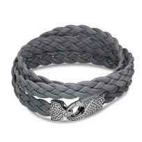 Stephen_Webster_Men's_Sterling_Silver_Grey_Leather_Wrap_Bracelet