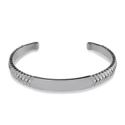 Stephen Webster Men's Sterling Silver Scale Pattern Cuff Bracelet