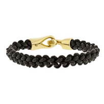 george_frost_white_bronze_&_black_leather_brave_&_new_bracelet