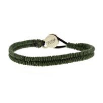 george_frost_white_bronze_green_leather_brace_&_new_bracelet_with_black_onyx_clasp