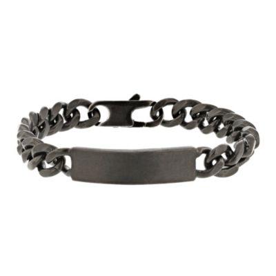 george frost black tone id bracelet