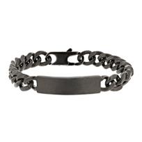 george_frost_black_tone_id_bracelet