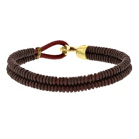 george_frost_brass_red_&_brown_leather_wrapped_bracelet