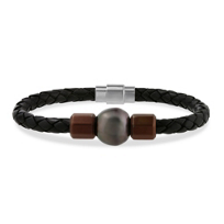 tara_leather_&_Stainless_steel_black_tahitian_south_sea_cultured_pearl_bracelet