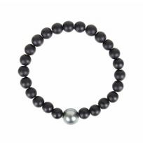 vincent_peach_black_tahitian_south_sea_cultured_pearl_&_black_onyx_bead_stretch_bracelet