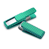 M-Clip_Green_Solid_Slide_with_Polka_Dots_Money_Clip