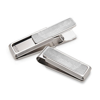 M-Clip Discovery With Etched Chevron Money Clip