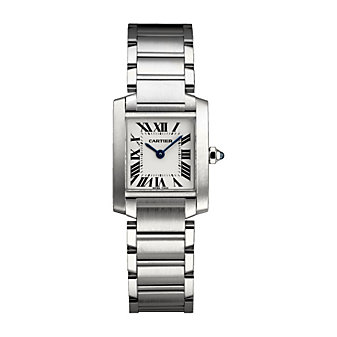 Cartier Tank Francaise Stainless Steel Watch, Small Model