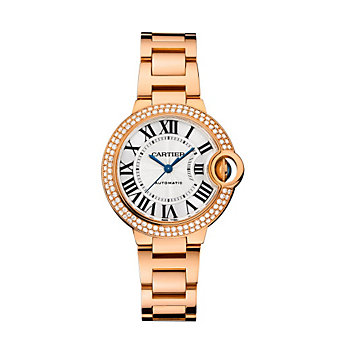 Cartier Ballon Bleu de Cartier 18K Rose Gold & Diamond Watch, 33mm