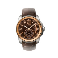 Cartier_Calibre_de_Cartier_18K_Rose_Gold_&_Dark_Brown_Watch,_Large_Model