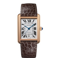 Cartier_Tank_Solo_18K_Rose_Gold_and_Brown_Leather_Watch,_Extra_Large_Model
