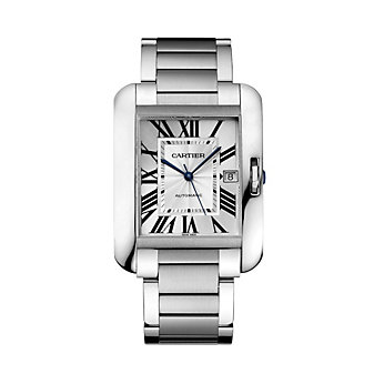 Cartier Tank Anglaise Steel Watch, Extra Large Model