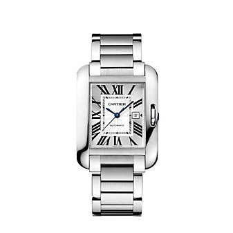 Cartier Tank Anglaise Steel Watch, Large Model