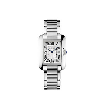 Cartier Tank Anglaise Steel Watch, Small Model