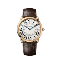Cartier_Ronde_Louis_Cartier_18K_Rose_Gold_and_Dark_Brown_Watch,_Extra_Large