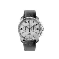 Cartier_Calibre_de_Cartier_Chronograph_Steel_Black_Leather_Watch,_Large_Model
