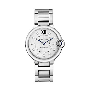 Cartier Ballon Bleu de Cartier Steel and Diamond Watch, 36 mm