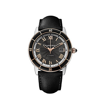 Cartier Ronde Croisiere de Cartier Steel and 18K Rose Gold Watch, 42mm