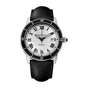 Cartier Ronde Croisiere de Cartier Steel Silvered Dial Watch, 42mm