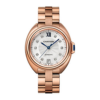 Cartier Cle De Cartier Watch - 35MM in 18K Pink Gold and Diamonds
