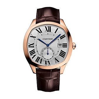 Cartier Drive de Cartier 18K Rose Gold and Brown Leather Strap Watch, 41mm