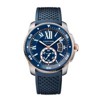 Cartier_Calibre_de_Cartier_Diver_18K_Rose_Gold_and_Steel_Blue_Watch,_42mm