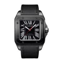 Cartier_Santos_100_Carbon_Steel_Watch,_Large_Model