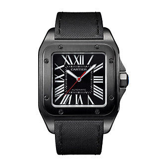 Cartier Santos 100 Carbon Steel Watch, Large Model