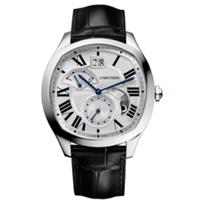 Cartier_Drive_De_Cartier_Watch_-_Steel_&_Black_Leather