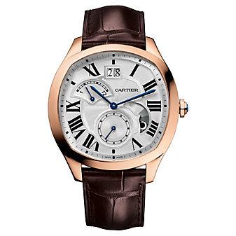 Cartier Drive De Cartier Watch - 18K Pink Gold & Brown Leather