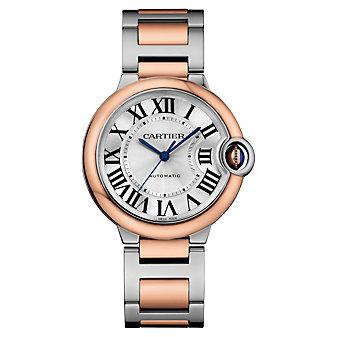 Cartier Ballon Bleu De Cartier Watch - 36 MM, In 18K Pink Gold and Steel