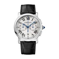 Cartier_Rotonde_De_Cartier_Chronograph_Watch_-_40MM_Steel_&_Black_Leather