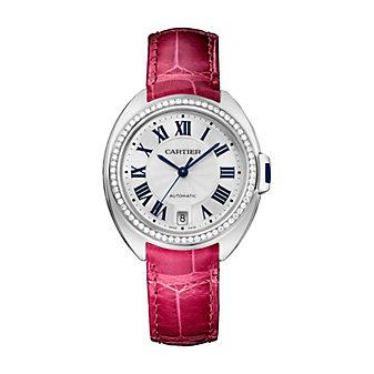 Cartier Cle De Cartier Watch - 35MM, In Rhodiumized 18K White Gold & Diamonds