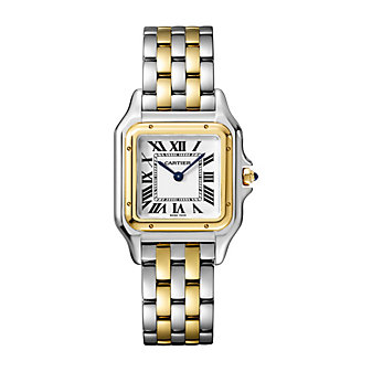 cartier panthere de cartier watch - 18k yellow gold & steel