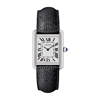 cartier tank solo small steel watch