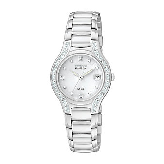 Citizen Ladies Eco-Drive Modena Watch, Silver Dial