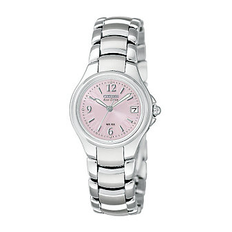 Citizen Ladies Eco-Drive Silhouette Sport Watch, Pink Dial