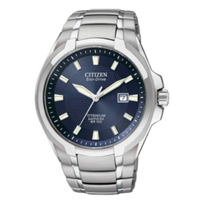 Citizen_Titanium_Eco_WR100_Watch,_Blue_Dial