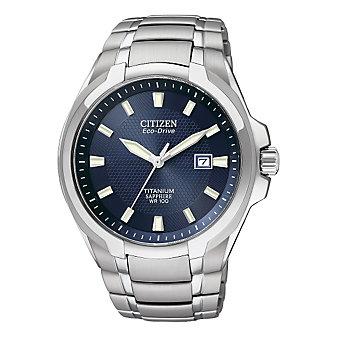 Citizen Titanium Eco WR100 Watch, Blue Dial
