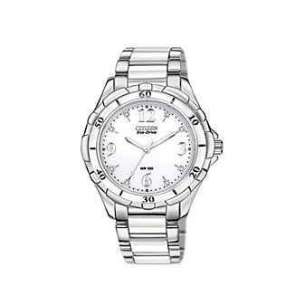 Citizen Ladies' Ceramic & Stainless Steel Eco WR100 Watch