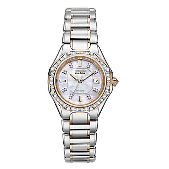 Citizen Ladies' Stainless Steel and Rose Tone Signature Collection Octavia Diamond Bracelet Watch